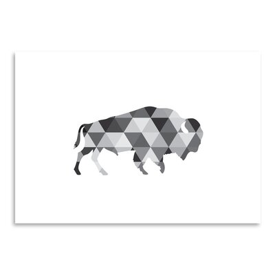 Americanflat 'Geometric Buffalo Up To' by Melinda Wood Graphic Art