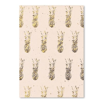 Americanflat 'Gold Pineapples' by Peach & Gold Graphic Art