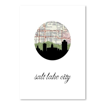 Americanflat 'Salt Lake City Map Skyline' by PaperFinch Graphic Art