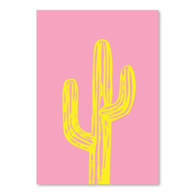 Americanflat 'Cactus on Pink' by Ashlee Rae Graphic Art