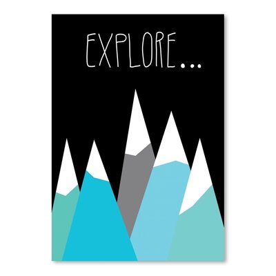 Americanflat 'Explore' by Ashlee Rae Graphic Art