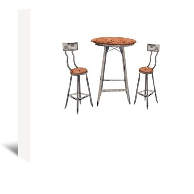 Americanflat 'Café Table' by Gina Maher Art Print Wrapped on Canvas