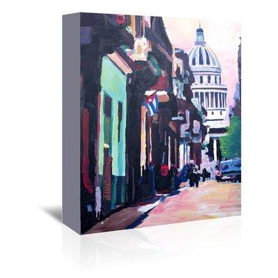 Americanflat 'Havana Cuba Street Scene' by M Bleichner Art Print Wrapped on Canvas