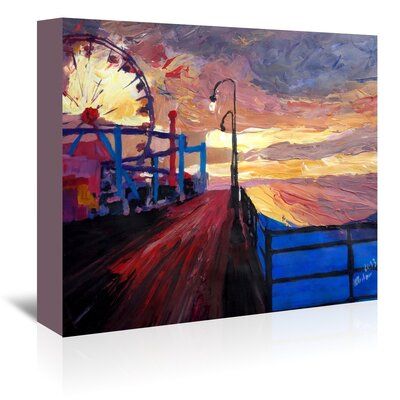 Americanflat 'Santamonicapier Dusk 2' by M Bleichner Art Print Wrapped on Canvas