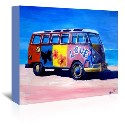 Americanflat The Love Surf Bus' by Markus Bleichner Art Print Wrapped on Canvas