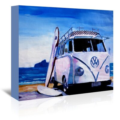 Americanflat 'The Vw Volkswagen Bully Series - The White Bus' by M Bleichner Art Print Wrapped on Canvas