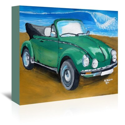 Americanflat 'Green Bug At Beach' by M Bleichner Art Print Wrapped on Canvas
