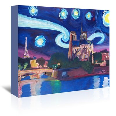 Americanflat 'Starry Night In Paris' by M Bleichner Art Print Wrapped on Canvas
