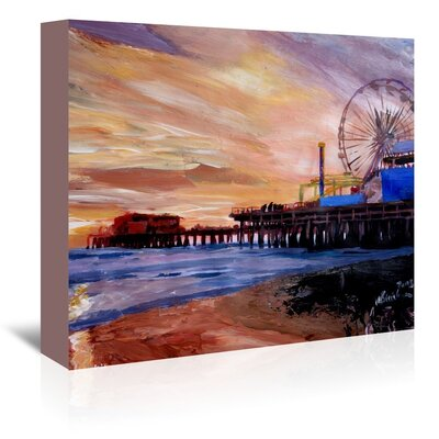 Americanflat 'Santa Monica Pier 2' by M Bleichner Art Print Wrapped on Canvas
