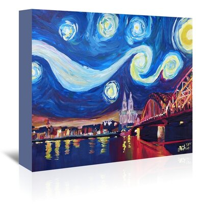 Americanflat 'Starry Night In Cologne' by M Bleichner Art Print Wrapped on Canvas