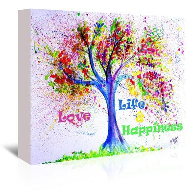 Americanflat Tree Love Life Happiness' by Markus Bleichner Art Print Wrapped on Canvas