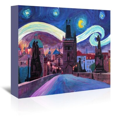 Americanflat 'Starry Night In Prague' by M Bleichner Art Print Wrapped on Canvas