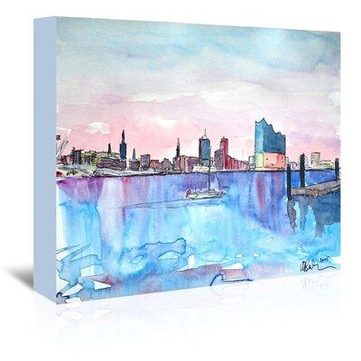 Americanflat 'Hamburg Harbour City Elbphilharmonie' by M Bleichner Art Print Wrapped on Canvas
