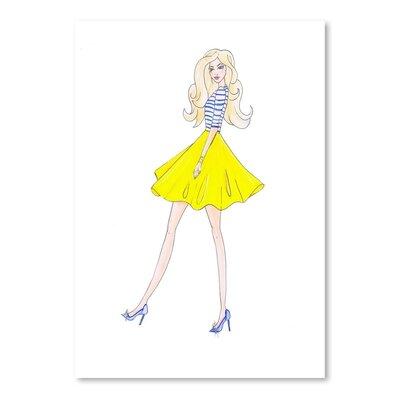 Americanflat 'Alison Yellow Skirt' by Alison B Art Print