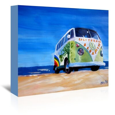 Americanflat The California Dreaming Surf Bus' by Markus Bleichner Art Print Wrapped on Canvas