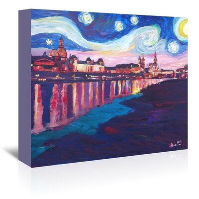 Americanflat 'Starry Night In Dresden' by M Bleichner Art Print Wrapped on Canvas