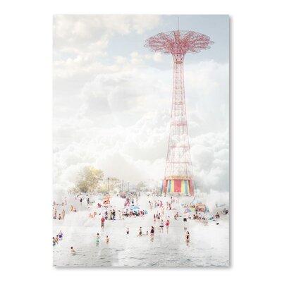 Americanflat 'Brooklyn-Eiffel-Tower' by Mina Teslaru Photographic Print