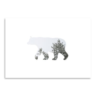 Americanflat 'Winter Bear Up To' by Melinda Wood Graphic Art
