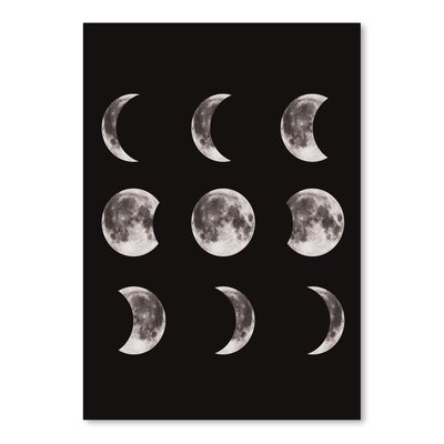 Americanflat 'Moonphases' The Glass Mountain Graphic Art in Black