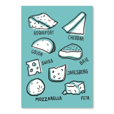 Americanflat 'Cheeses' by The Glass Mountain Graphic Art