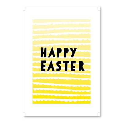 Americanflat 'Happy Easter' by Ashlee Rae Graphic Art