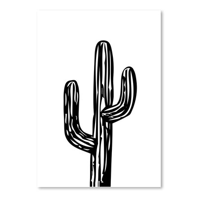 Americanflat 'Cactus on White' by Ashlee Rae Graphic Art