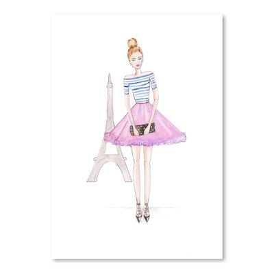 Americanflat 'Paris Purple' by Alison B Art Print