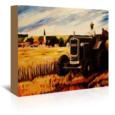 Americanflat 'The Farmer' by M Bleichner Art Print Wrapped on Canvas