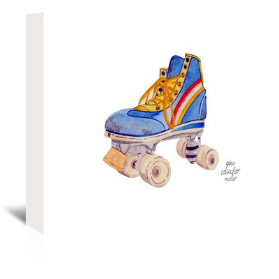 Americanflat 'Roller Skate' by Gina Maher Art Print Wrapped on Canvas