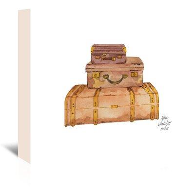 Americanflat 'Suitcases' by Gina Maher Art Print Wrapped on Canvas
