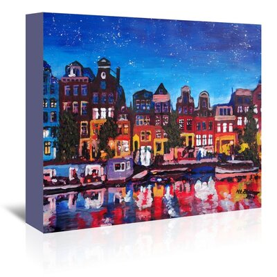 Americanflat 'Amsterdamstars2' by M Bleichner Art Print Wrapped on Canvas