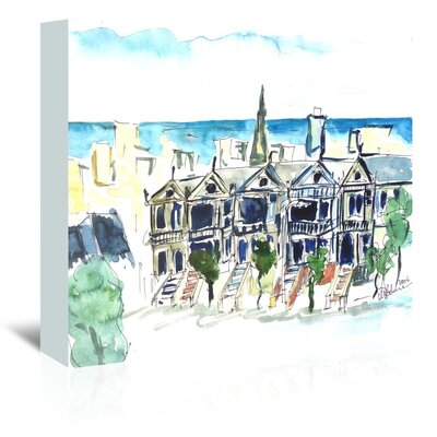 Americanflat 'San Francisco Victorian Houses' by M Bleichner Art Print Wrapped on Canvas