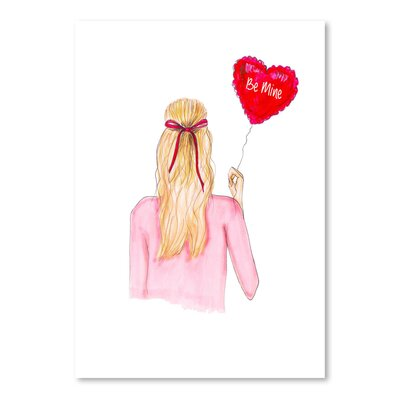 Americanflat 'Be Mine Balloon' by Alison B Art Print