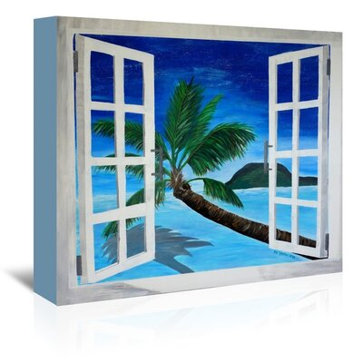 Americanflat 'Window To Paradise' by M Bleichner Art Print Wrapped on Canvas