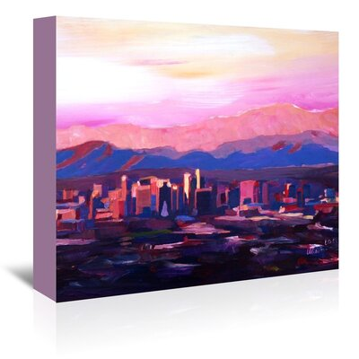 Americanflat 'Phoenix Arizona Skyline2' by M Bleichner Art Print Wrapped on Canvas