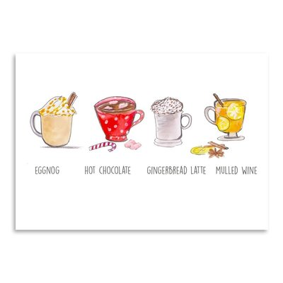 Americanflat 'Xmas Drinks' by Alison B Art Print