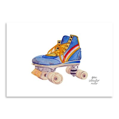 Americanflat 'Roller Skate' by Gina Maher Art Print