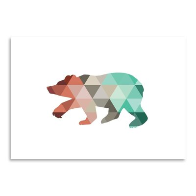 Americanflat 'Mint Coral Bear Up To' by Melinda Wood Graphic Art