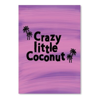 Americanflat 'Little Coconut' by Ashlee Rae Typography Wrapped on Canvas