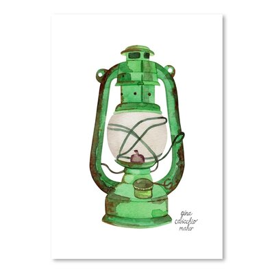 Americanflat 'Oil Lamp' by Gina Maher Art Print