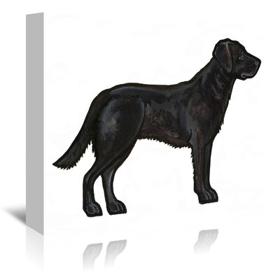 Americanflat 'Black Lab' by Sally Pattrick Art Print Wrapped on Canvas