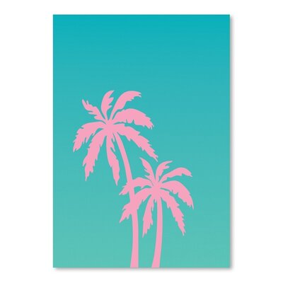 Americanflat 'Palm Tree' by Ashlee Rae Graphic Art
