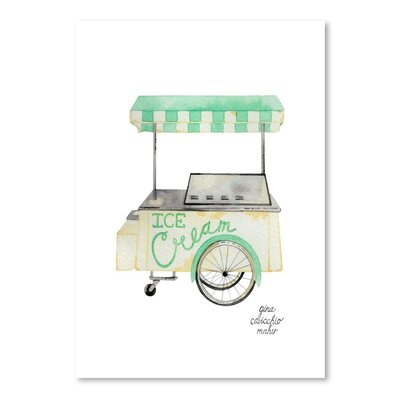 Americanflat 'Icecream Cart' by Gina Maher Art Print