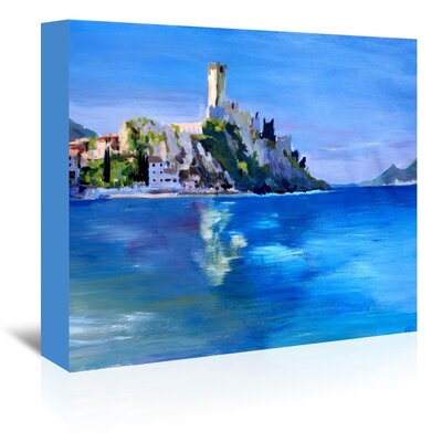 Americanflat 'Malcesine With Castello Scaligero2' by M Bleichner Art Print Wrapped on Canvas