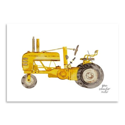 Americanflat 'Tractor' by Gina Maher Art Print