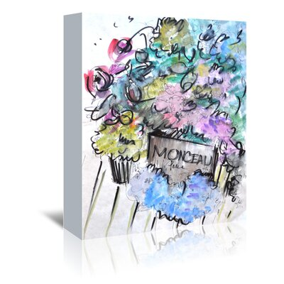 Americanflat 'Blooms in Paris' by Cara Francis Art Print Wrapped on Canvas