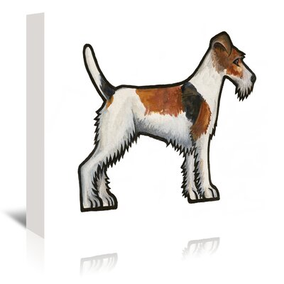 Americanflat 'Fox Terrier' by Sally Pattrick Art Print Wrapped on Canvas