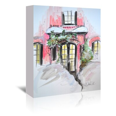 Americanflat 'Snowy Bricks in Beacon Hill' by Cara Francis Art Print Wrapped on Canvas