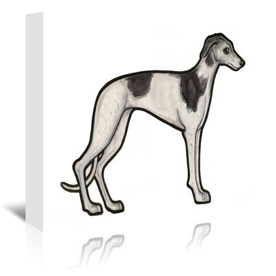Americanflat 'Greyhound' by Sally Pattrick Art Print Wrapped on Canvas