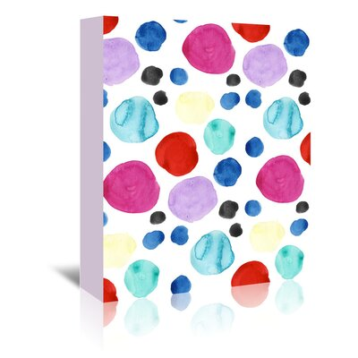 Americanflat 'Bigdots' by Adrienne Vita Art Print Wrapped on Canvas